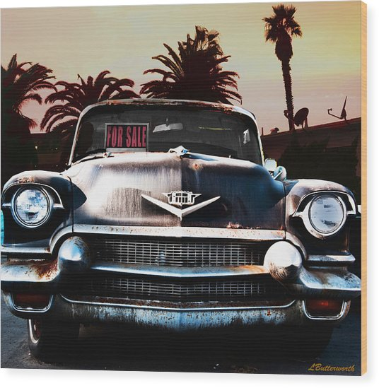 Cadillac Blues Wood Print by Larry Butterworth