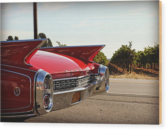 Cadillac In Wine Country  Wood Print