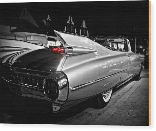 Cadillac Noir Wood Print