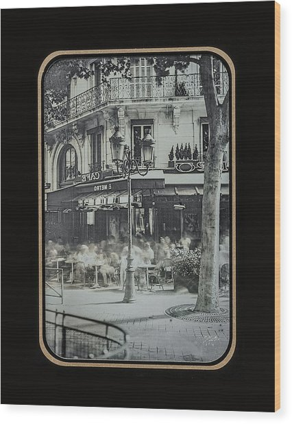 Cafe Le Metro - Paris Wood Print