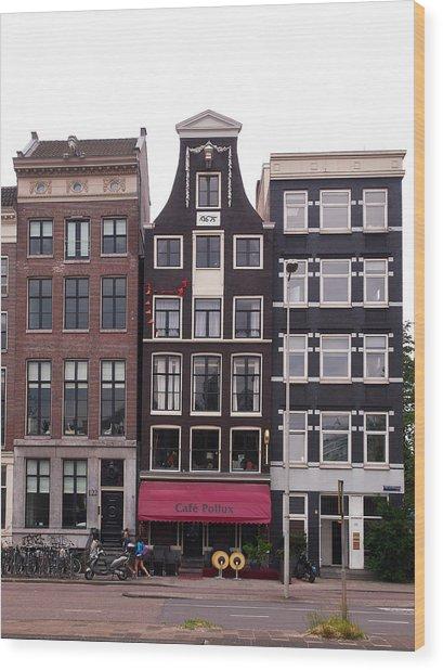 Cafe Pollux Amsterdam Wood Print
