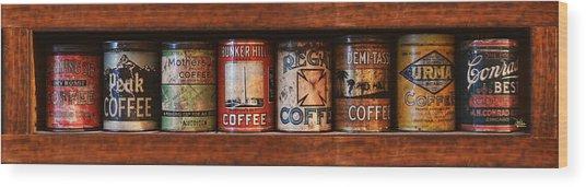 Cafe Retro No 4 Wood Print