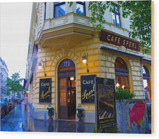 Cafe Sperl Vienna Wood Print