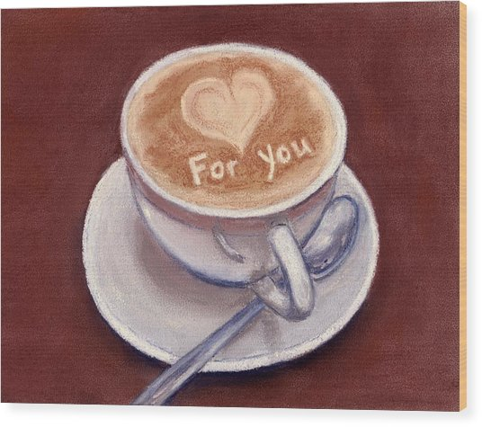 Caffe Latte Wood Print