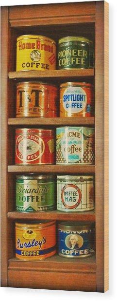 Caffe Retro No. 3 Wood Print