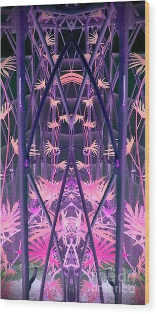 Caged 2 Wood Print by Karen Newell