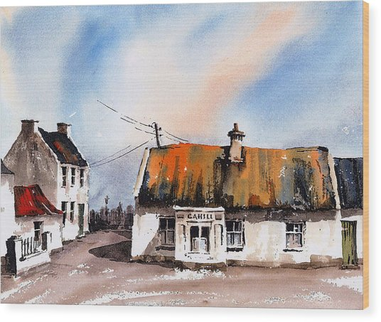 Cahill's Thatched Pub Galmoy Kilkenny Wood Print