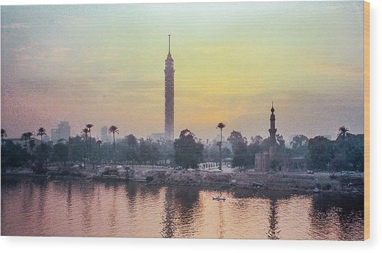 Cairo And The Nile Wood Print