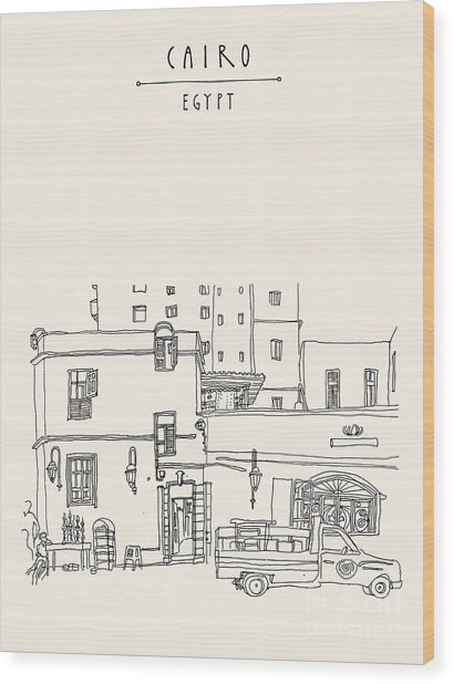 Cairo, Egypt, North Africa. A Man Wood Print