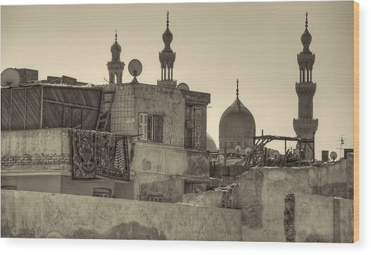 Cairo Skyline II Wood Print