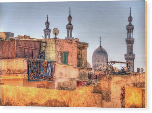 Cairo Skyline Wood Print