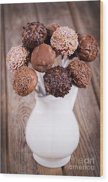 Cake Pops Wood Print