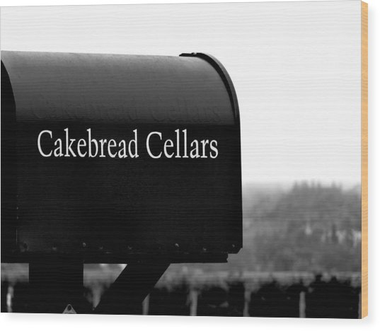 Cakebread Cellars Wood Print