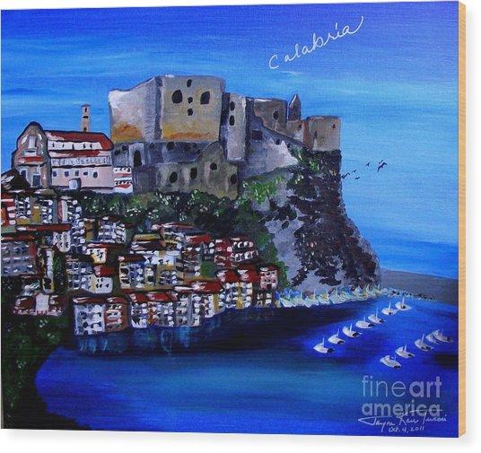 Calabria Italy Wood Print