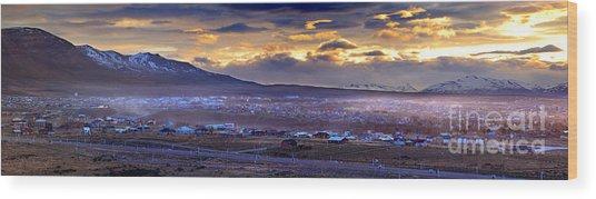 Calafate Panoramic Wood Print