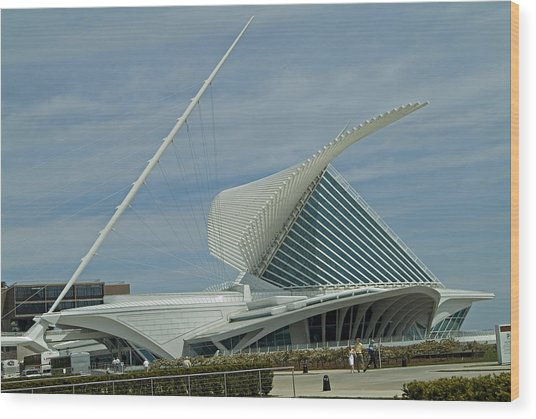 Calatrava Milwaukee Wood Print by Devinder Sangha