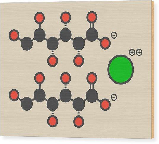 Calcium Gluconate Drug Molecule Wood Print by Molekuul
