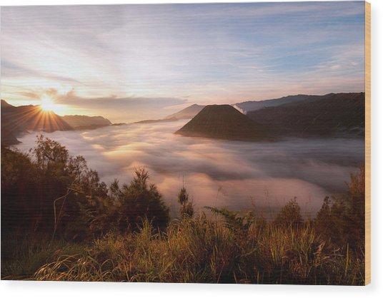 Caldera Sunrise Wood Print