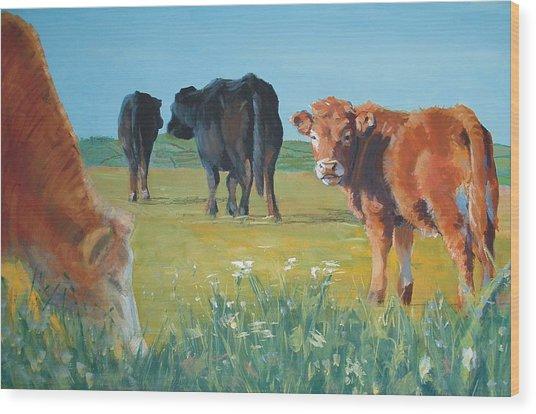 Calf Painting Wood Print