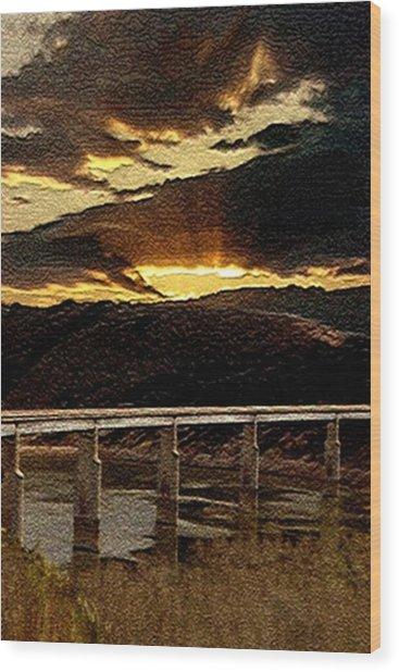 California Bridge Wood Print