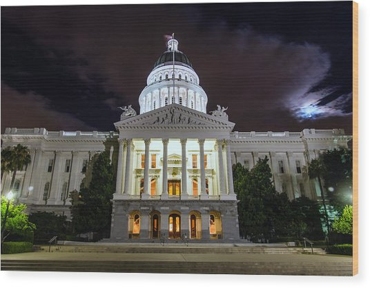 California Capitol Wood Print