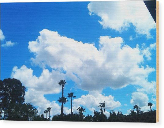 California Clouds Wood Print by Susan Mumma