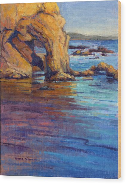 Wood Print featuring the painting California Cruising 6 by Konnie Kim