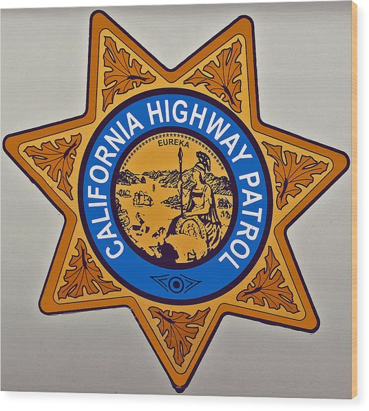 California Highway Patrol Wood Print