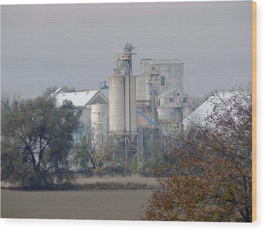 California Rice Mill  Wood Print