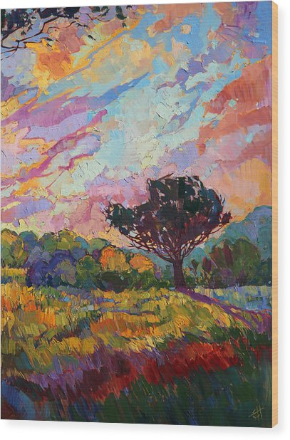 California Sky Quadtych - Lower Right Panel Wood Print