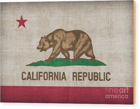 California State Flag Wood Print