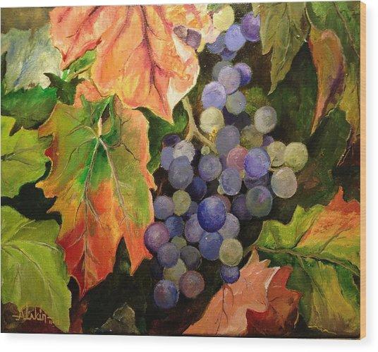 California Vineyards Wood Print