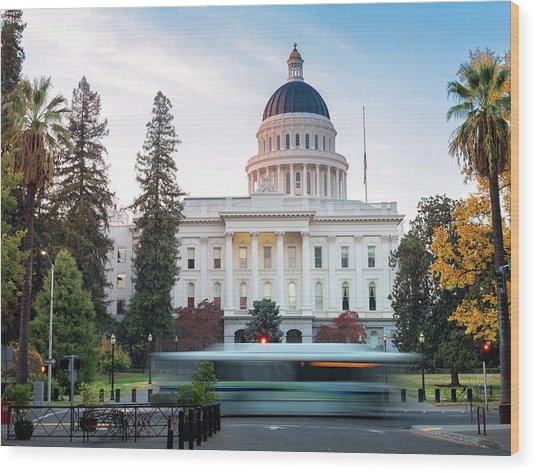 Californias Capital Wood Print by Janet Kopper