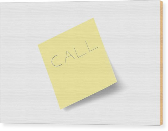 Call Note Wood Print by Macroworld