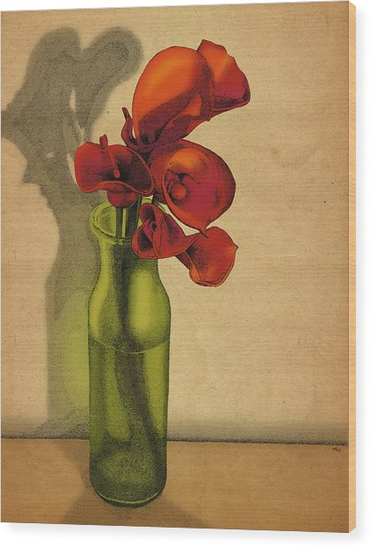 Calla Lilies In Bloom Wood Print