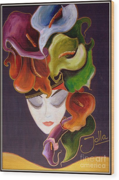Calla Lily Dame.. Wood Print