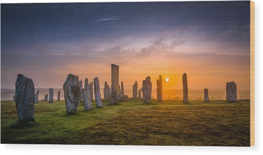 Callanish Dawn Wood Print