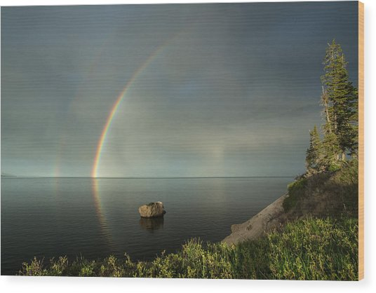 Calm Before The Storm Wood Print by Sandy Sisti