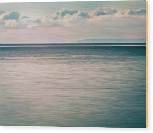 Calm Blue Ocean Wood Print