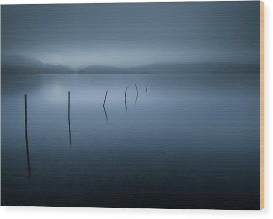 Calm Wood Print by David Ahern
