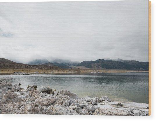 Calm Lake Against Mountain Range Wood Print by Christian Soldatke / EyeEm