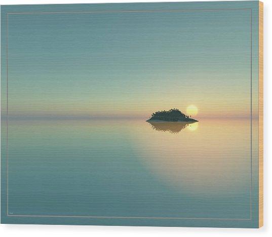 Calm Seas Sunset... Wood Print