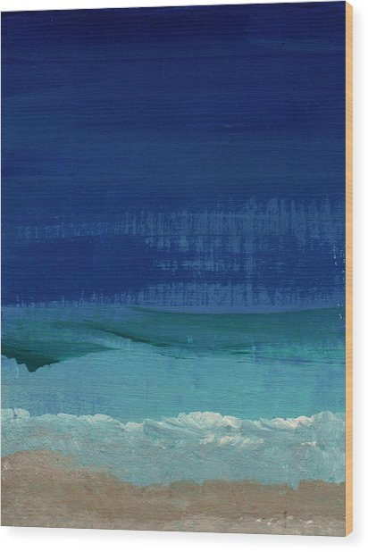 Calm Waters- Abstract Landscape Painting Wood Print