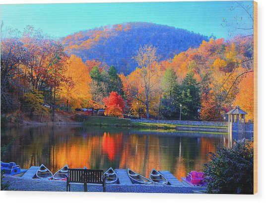 Calm Waters In The Mountains Wood Print
