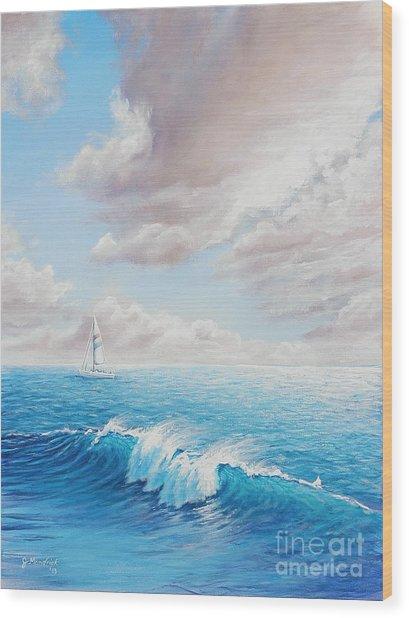 Calming Ocean Wood Print