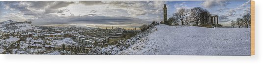 Calton Hill Panorama Wood Print