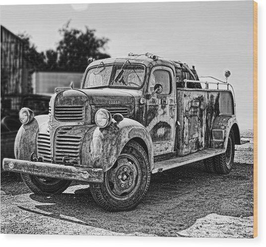 Calusa Rural Fire Truck No2 Wood Print