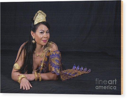 Cambodian Bride Wood Print