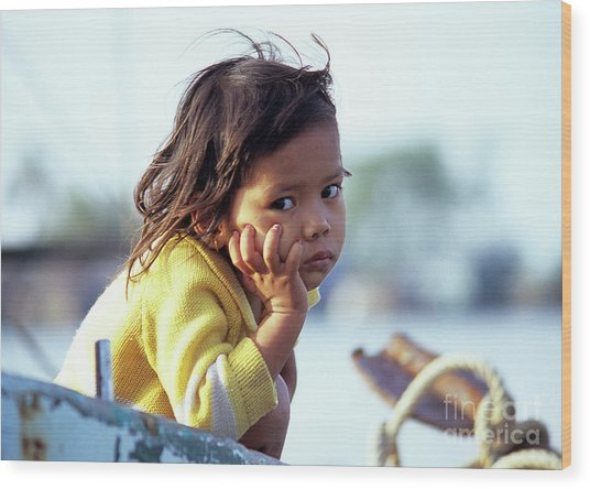 Cambodian Girl 01 Wood Print