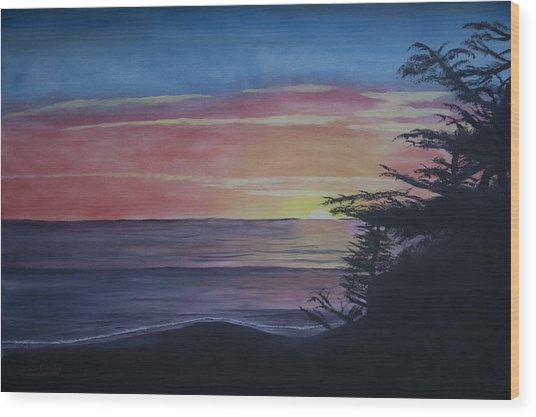 Cambria Setting Sun Wood Print